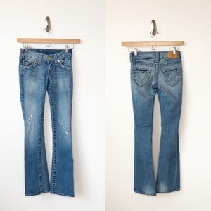 True Religion Rachel blue jeans ripped distressed
